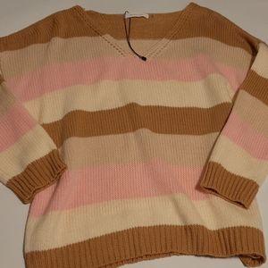 Oversized Mustard Seed Striped Sweater
